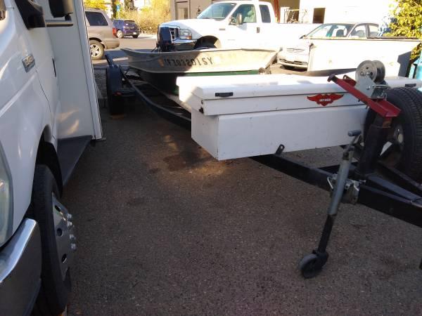 Photo 14 ft Valco aluminum boat motor and heavy duty trailer - $1,750 (Slo)