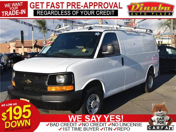 Photo 2016 Chevrolet Chevy Express 3500 Cargo Van 3D - $14595 (as low as $195 down oac -Bad Credit OK)