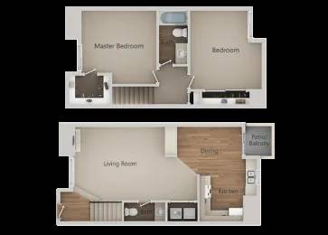Photo 2 Bedroom 1.5 Bath Town Home With Tons of Space  Light Coming Soon (580 West Fargo Ave, Hanford, CA, US)