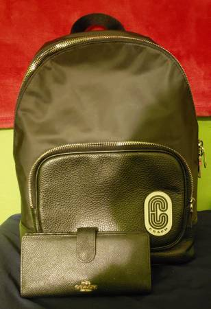 Photo Coach backpack and wallet - $300 (Hanford)
