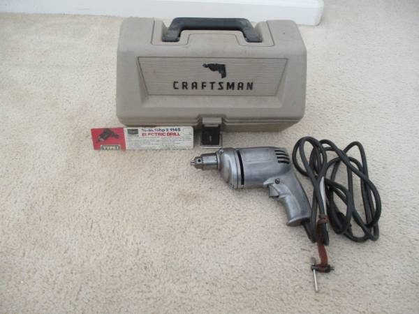 Photo Craftsman Electric Drill - $60 (Santa Maria)
