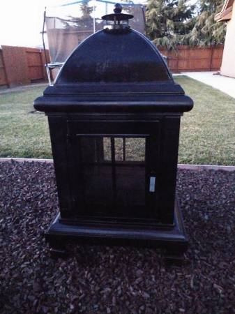 Photo Fire pit wood and firewood rack - $180 (Hanford, CA)