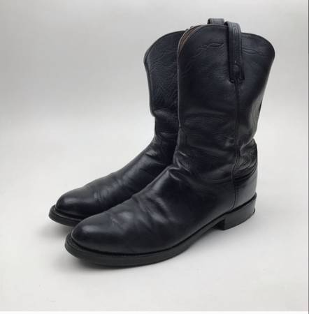 Photo LUCCHESE Boots - Handmade in USA Buffalo Black Vintage Mens 10.5 D - $150 (Clovis)
