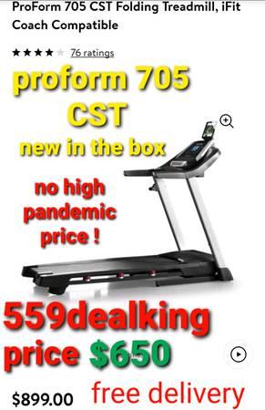 Photo Proform 705 cst treadmill (new in the box) - $650 (fresno)