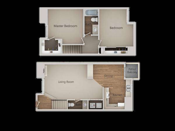 Photo The 2 Bed 1.5 Bath Townhome Is Our Most Popular Floorplan Apply Today (580 West Fargo Avenue, Hanford, CA, US)
