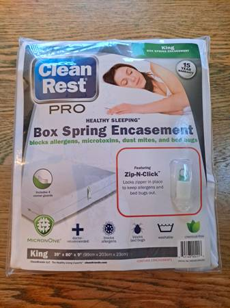 Photo Clean Rest PRO Box Spring Encasement - $30 (Dillsburg, PA)