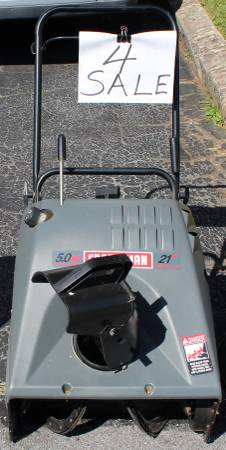 Photo Craftsman 5.0 HP 21 Inch Single Stage Auger Propelled Electric Start. - $75 (Lebanon, Pa)