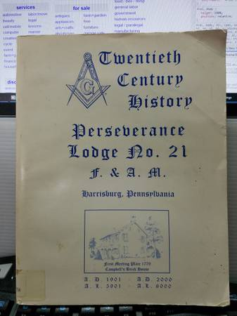 Photo Twentieth Century History Perseverance Lodge No. 21 FAM Harrisburg - $4 (C Hill)