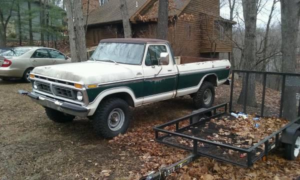 Photo 1977 F250 Ford Custom - $2000 (MC Gaheysville)