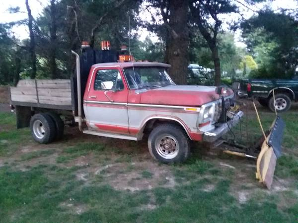 Photo 1978 ford f250 4x4 dump bed plow - $1700 (MOUNT CRAWFORD)