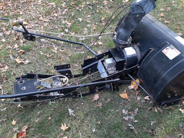 Photo 42quot snowblower for lawn tractor - $325 (melrose)