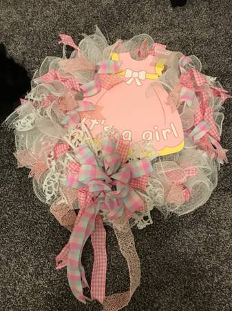 Photo Baby Girl Wreath - $30 (Fredericksburg)