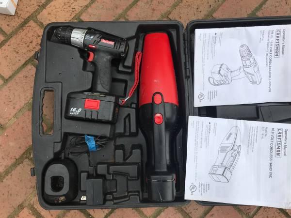 Photo Craftsman drill drivervacuum kit - $25 (Churchville)