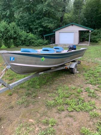 Photo 1439 BlueFin Aluminum Boat, Motor  Trailer - $1,750 (Somers)