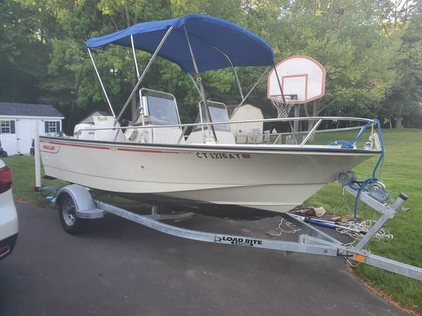 Photo 1991 Boston Whaler 16 SL 2013 E-TEC 90 low hours - $16,500 (enfield)