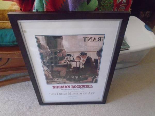 Photo Beautiful Norman Rockwell Saying Grace Print - $65 (Rocky Hill Ct.)