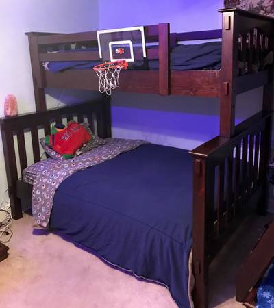 Photo Bunk Bed--Pottery Barn Twin over Full - $800 (West Hartford, CT)