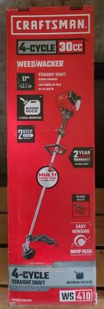 Photo CRAFTSMAN WS410 30-cc 4-Cycle 17-in Straight Shaft Gas String Trimmer - $175 (Auburn)