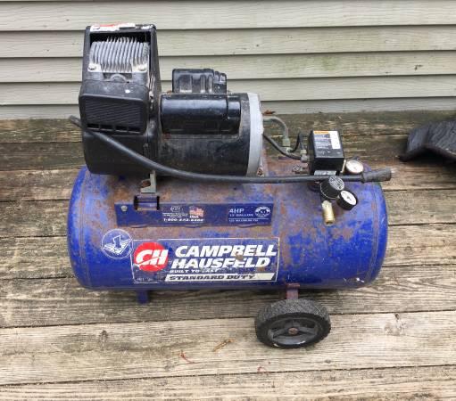 Photo Cbell Hausfeld 4 HP 13 Gallon Air Compressor For Parts Or Repair - $25 (Clinton)