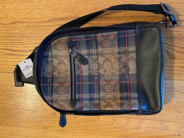Photo Coach leather backpack - new with tags - $100 (West Hartford)