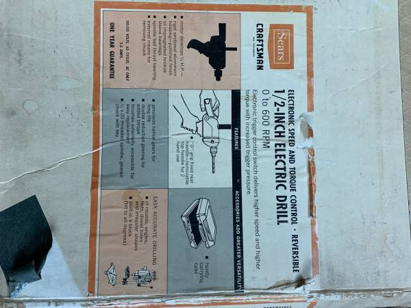 Photo Craftsman 12 corded Electric Drill - $35 (Suffield)