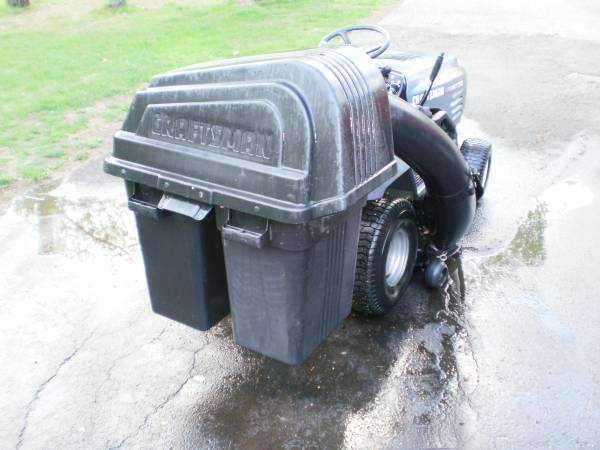Photo Craftsman, Poulan or Husqvarna grass bagger - $200 (Coventry, CT)