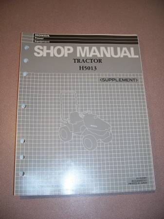 Photo Honda Shop Manual for H5013 Garden Tractor and RT5000 - $45 (Enfield, CT)