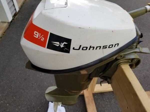 Photo JOHNSON 9.5 HP OUTBOARD MOTOR - $675 (Berlin, Ct)