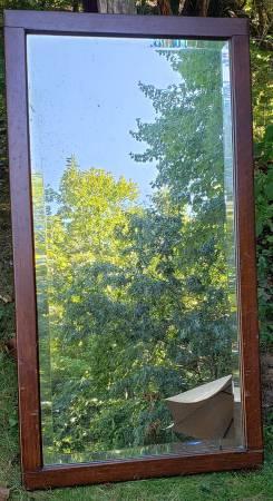 Photo Large Vintage Beveled Glass Mirror - $30 (Granby)