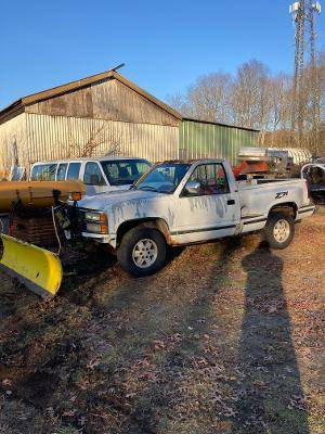 Photo Meyers 7 foot 6 inch snow plow complete with harness and mount - $550 (Westerly)