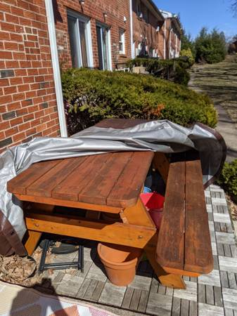 Photo Picnic Table - $150 (Manchester)