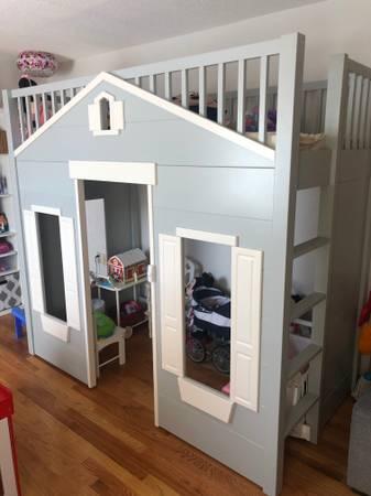 Photo PlayHouse Loft Bed (Pottery Barn) - $1,200 (Methuen, MA)
