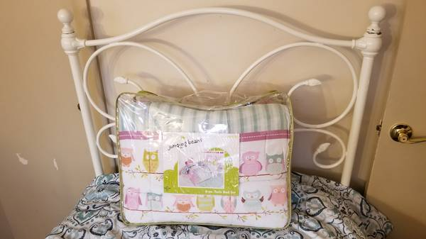 Photo Pottery Barn Wrought Iron Twin Bed Package Deal - $1,150 (Glastonbury)
