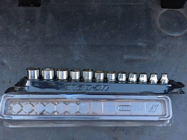 Photo Snap On Tools 12 pc 38quot Drive 6-Point Shallow Metric Socket Set - $150 (New Britain)