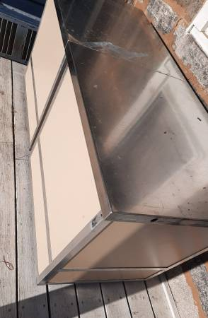 Photo Stainless steel top work units table counters - $255 (Windham area)
