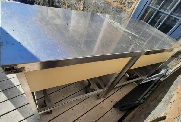 Photo Stainless steel top work units table counters - $155 (Windham area)