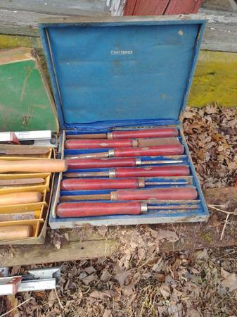 Photo Vintage Craftsman Greenlee Lathe Wood Turning Tools - $20 (South Windsor)