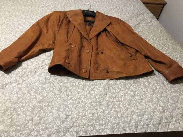 Photo Womens Leather Jacket - $40 (Manchester)