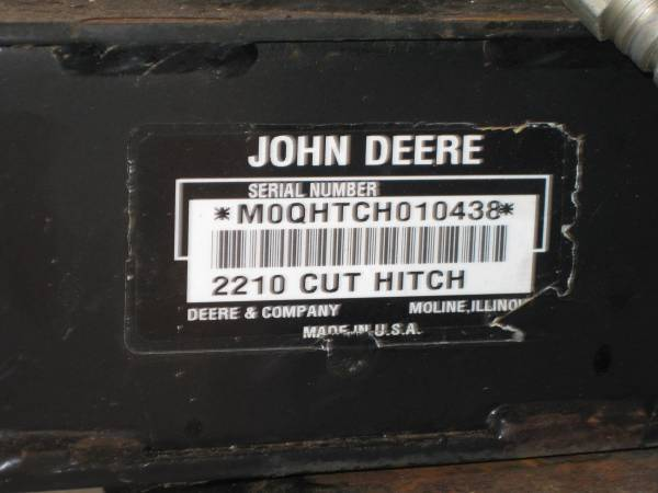 Photo john deere will trade 2210 quick hitch for one to fit 445 john deere (bristol ct)
