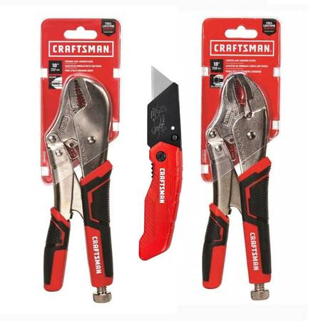 Photo NEW Craftsman 10 in Locking Pliers Set - $25 (Hattiesburg)