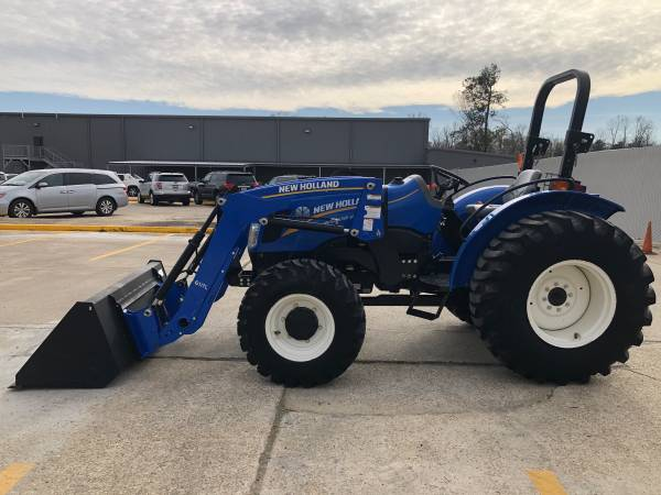 Photo New Holland WorkMaster 50 Tractor 53HP 4WD Front Loader Shuttle 109Hrs - $25,900 (Baton Rouge)