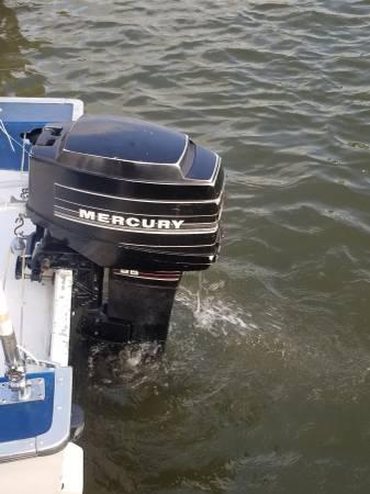 Photo Nice 25hp Mercury outboard - $1,200 (South shore harbor marina)