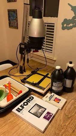Photo Photo Enlarger and developing equipment - $50 (Abita Springs)