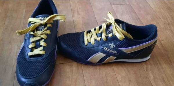 Photo Saints Black  Gold World Rush Reebok Tennis Size 7 - $20 (Biloxi)