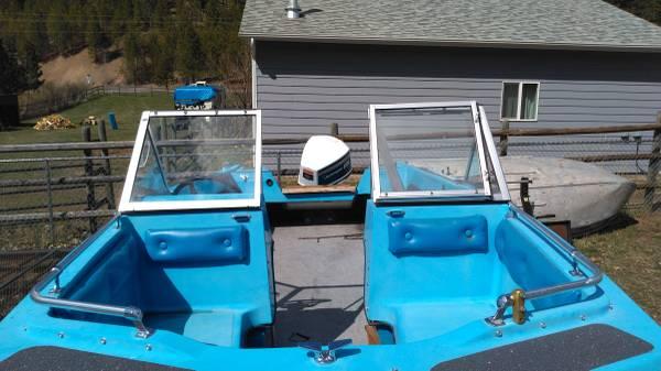 Photo 1975 tri-hull fiberglass boat - $750 (Clinton)
