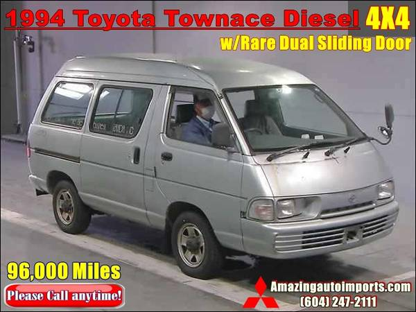 Photo 1994 Toyota Townace Diesel Van 4X4 LOW Mileage 96,000 Miles - $8000 (RICHMOND)
