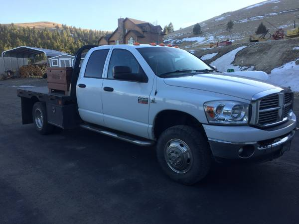 Photo 2009 Dodge 3500 Flatbed Diesel Dually - $26,000 (CLANCY)
