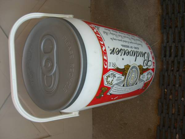 Photo Budweiser beer giant sized cooler can - $40 (Helena)