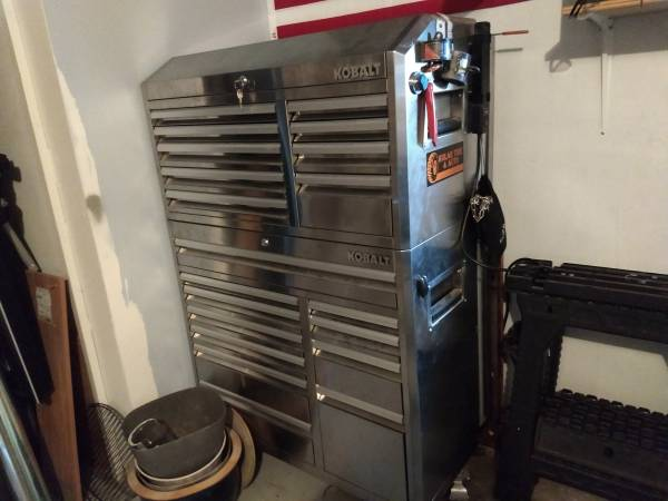 Photo Double Stacked Kobalt tool box - $1200