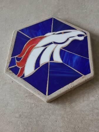 Photo REDUCED Denver Broncos concrete garden stepping stone - $25 (Helena)